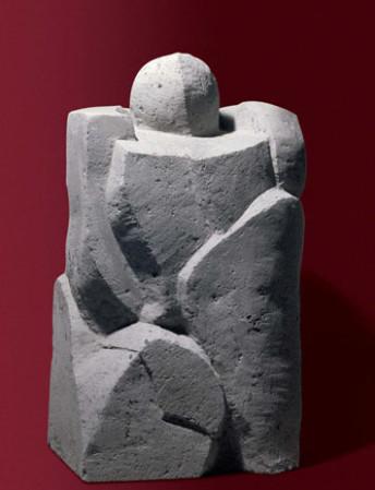 Uomo d'Armi 43x33x73 pietra enfero.