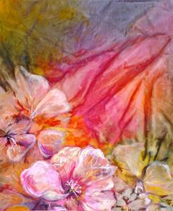 Ibischi rosa, 50x70, dipinto ad olio. Costo €700,00