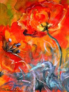 Papaveri, 35x50, dipinto ad olio. Costo €350,00 (2)