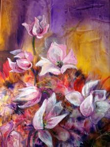 Magnolia giapponese, 50x70, dipinto ad olio.