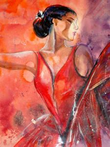 Tango, 56x78, tempera su carta. Costo €1.600,00